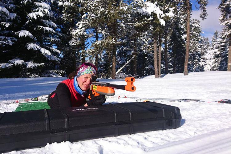 Biathlon laser avec Fred Maugery