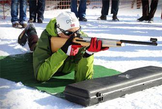 Séance biathlon laser à la station de ski de Font-Romeu