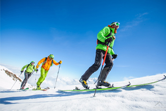 Sorties en montagne en ski de randonnée avec un guide de haute montagne