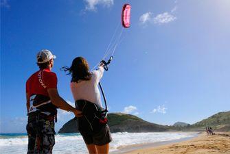 Initiation au kite surf à Canet en Pyrénées Orientales - ground control
