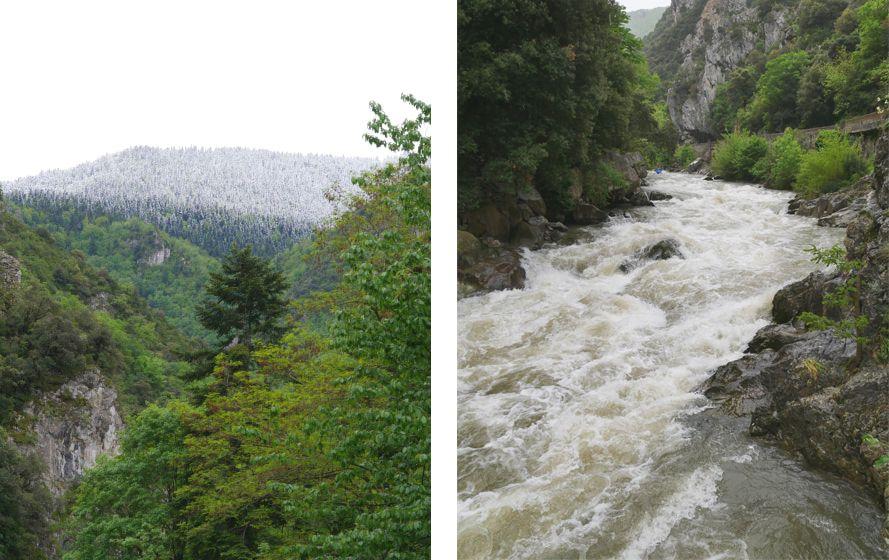 rivière de l'Aude en crue -rafting