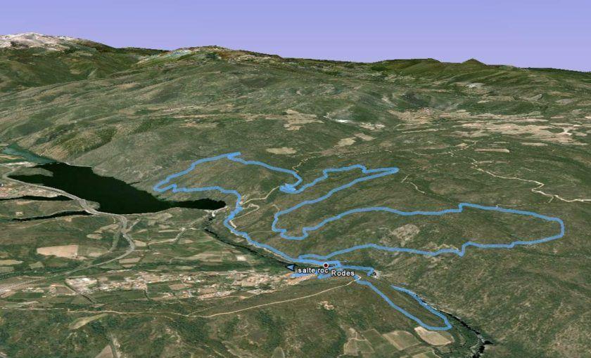 Parcours trail Salte Rocs